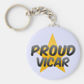 Proud Vicar Basic Round Button Keychain