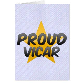 Proud Vicar Greeting Cards