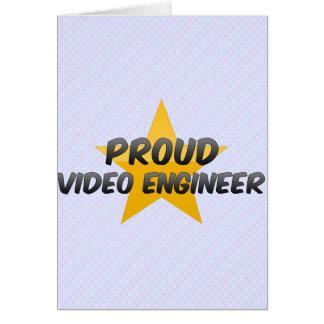 Proud Video Engineer Card
