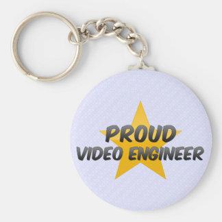 Proud Video Engineer Key Chain