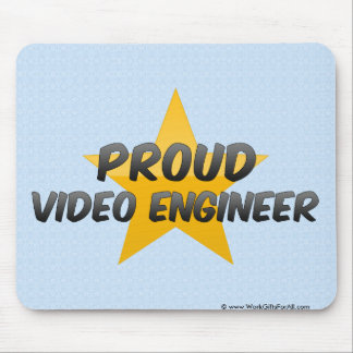 Proud Video Engineer Mouse Pads