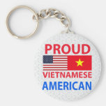 Proud Vietnamese American Basic Round Button Keychain