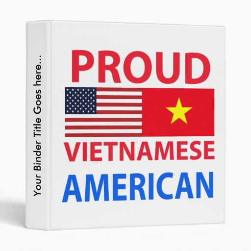 Proud Vietnamese American Vinyl Binder