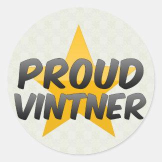 Proud Vintner Classic Round Sticker