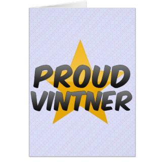 Proud Vintner Greeting Card