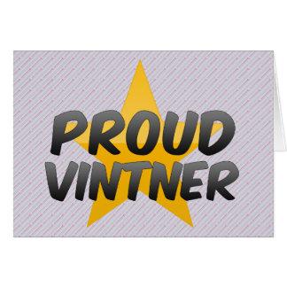Proud Vintner Greeting Cards