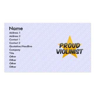 Proud Violinist Business Card