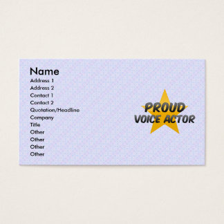 Proud Voice Actor Business Card
