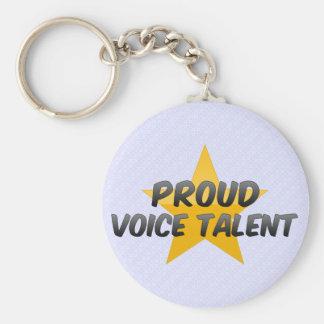 Proud Voice Talent Keychain