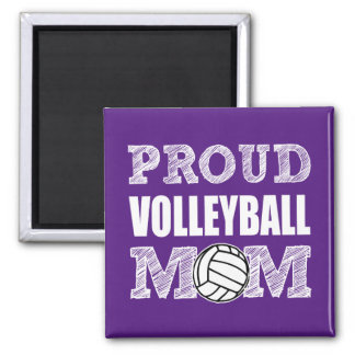 Proud Volleyball Mom women's magnet
