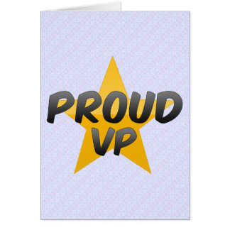 Proud Vp Greeting Card
