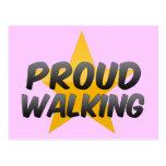 Proud Walking Postcard