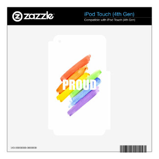 PROUD Watercolor Rainbow iPod Touch 4G Skin