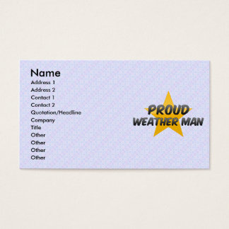 Proud Weather Man Business Card