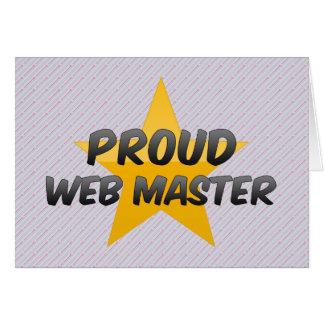 Proud Web Master Greeting Card