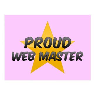 Proud Web Master Postcard