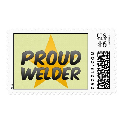 Proud Welder Postage Stamp