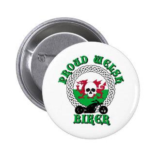 Proud Welsh Biker Button