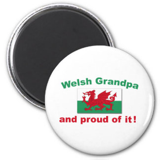 Proud Welsh Grandpa 2 Inch Round Magnet