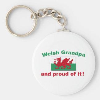 Proud Welsh Grandpa Keychain