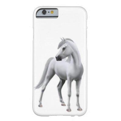 Proud White Arabian Horse iPhone 6 Case
