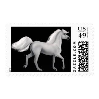 Proud White Stallion Postage