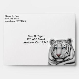 Proud White Tiger Envelope