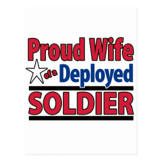 Proud Wife of a Deployed Soldier Postcard