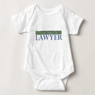 Proud Wife Of A Lawyer (Green) Baby Bodysuit