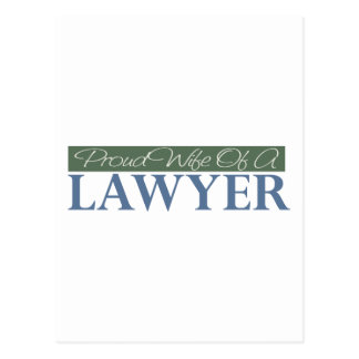 Proud Wife Of A Lawyer (Green) Postcard