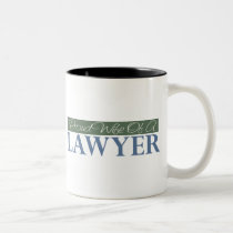 Proud Wife Of A Lawyer (Green) Two-Tone Coffee Mug