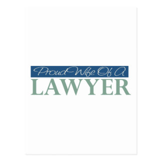 Proud Wife Of A Lawyer Postcard