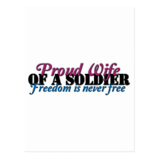 Proud Wife of a Soldier Post Card