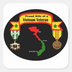 Proud Wife of a Vietnam Veteran Sticker