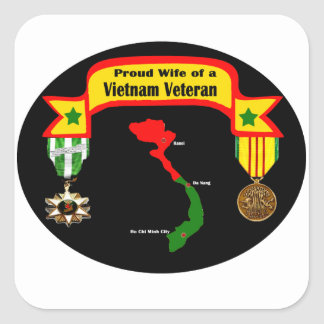 Proud Wife of a Vietnam Veteran Sticker