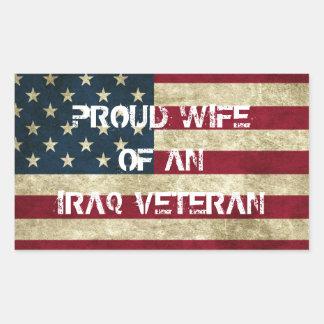 Proud Wife of an Iraq Veteran Sticker