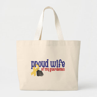 Proud Wife of my Guardsman Large Tote Bag