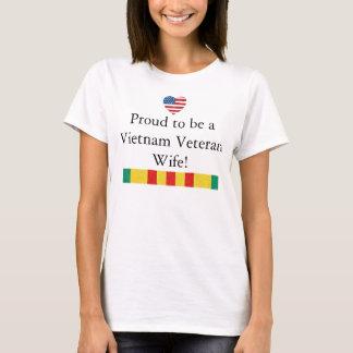Proud Wife of Vietnam Veteran T-shirt