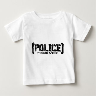 Proud Wife - POLICE Tattered Baby T-Shirt