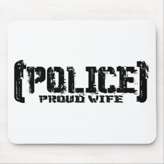 Proud Wife - POLICE Tattered Mouse Pad