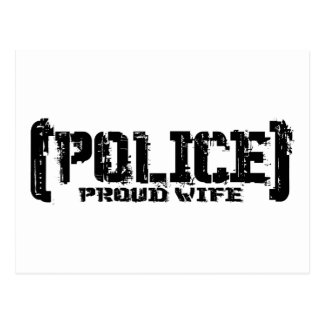 Proud Wife - POLICE Tattered Post Card