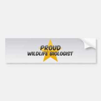 Proud Wildlife Biologist Car Bumper Sticker