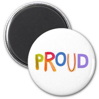 Proud word art bold unashamed confident smug fridge magnets