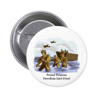 Proud World War II Veteran Pinback Buttons
