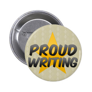 Proud Writing 2 Inch Round Button