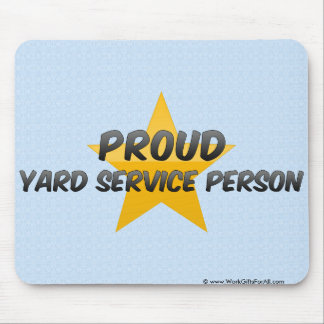 Proud Yard Service Person Mouse Pad