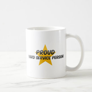 Proud Yard Service Person Mugs
