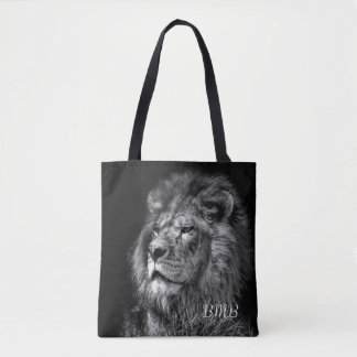 Proud Young Lion Monogram Tote