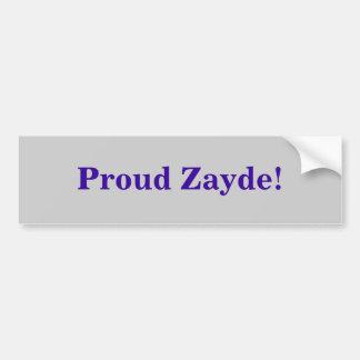 Proud Zayde! Bumper Sticker