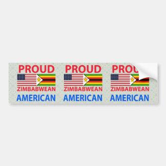 Proud Zimbabwean American Bumper Sticker